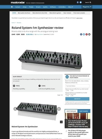 MusicRadar.com Roland System-1m