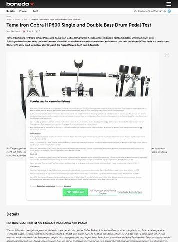 Bonedo.de Tama Iron Cobra HP600 Single und Double Bass Drum Pedal
