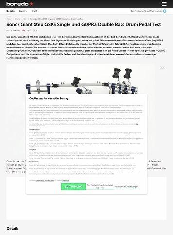 Bonedo.de Sonor Giant Step GSP3 Single und GDPR3 Double Bass Drum Pedal