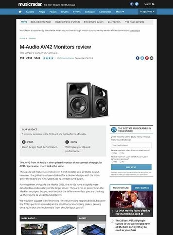 MusicRadar.com M-Audio AV42