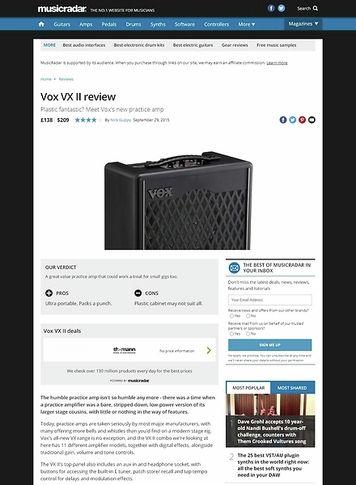 MusicRadar.com Vox VX II