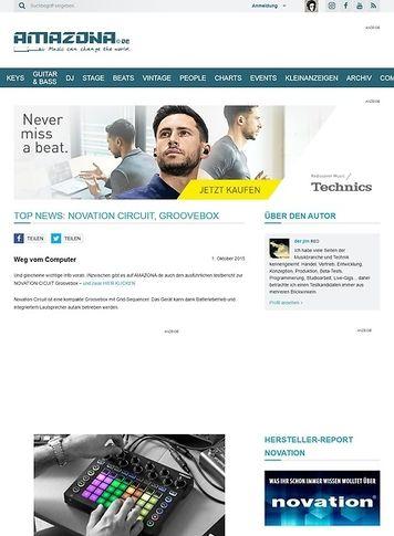 Amazona.de Top News: Novation Circuit, Groovebox