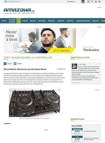 Amazona.de Test: Denon MC4000, DJ-Controller