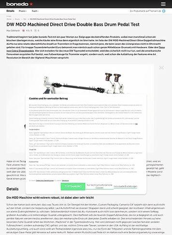 Bonedo.de DW MDD Machined Direct Drive Double Bass Drum Pedal