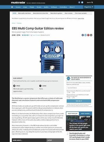 MusicRadar.com EBS Multi Comp Guitar Edition