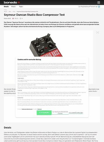 Bonedo.de Seymour Duncan Studio Bass Compressor