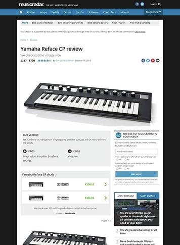 MusicRadar.com Yamaha Reface CP