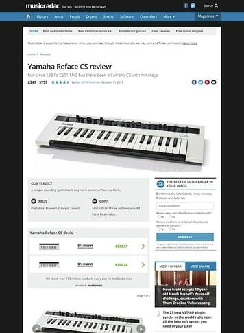 MusicRadar.com Yamaha Reface CS
