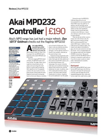 Future Music Akai MPD232