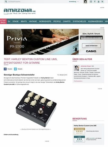 Amazona.de Test: Harley Benton Custom Line UM5, Effektgerät für Gitarre