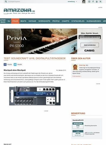 Amazona.de Test: Soundcraft Ui16, Digitalpult/Stagebox