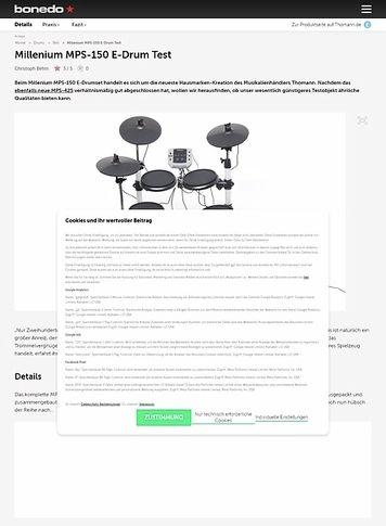 Bonedo.de Millenium MPS-150 E-Drum