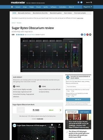 MusicRadar.com Sugar Bytes Obscurium