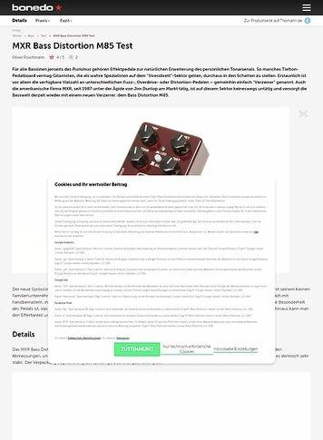 Bonedo.de MXR Bass Distortion M85