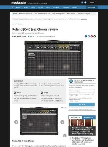 MusicRadar.com Roland JC-40 Jazz Chorus
