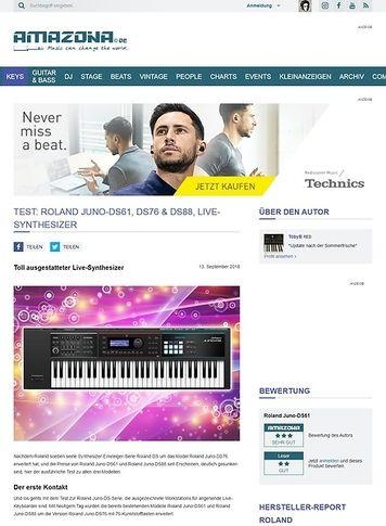 Amazona.de Roland Juno-DS61, DS76 & DS88