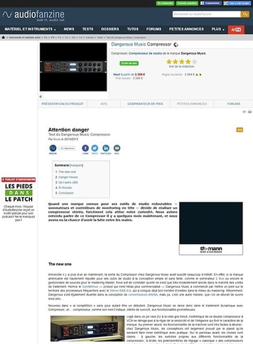 Audiofanzine.com Dangerous Music Compressor