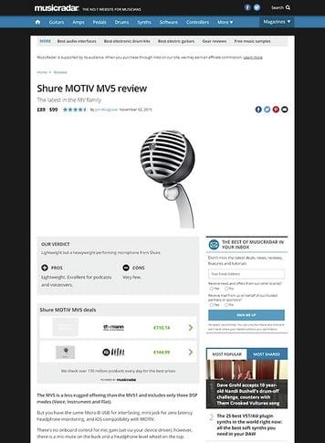 MusicRadar.com Shure MOTIV MV5