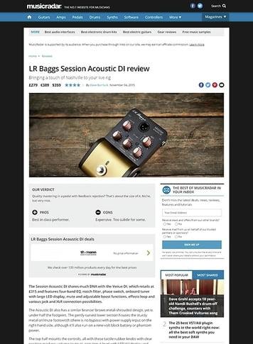 MusicRadar.com LR Baggs Session Acoustic DI