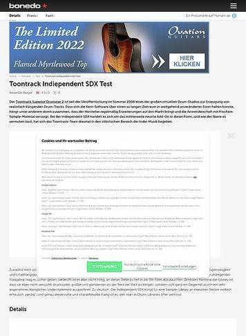 Bonedo.de Toontrack Indiependent SDX