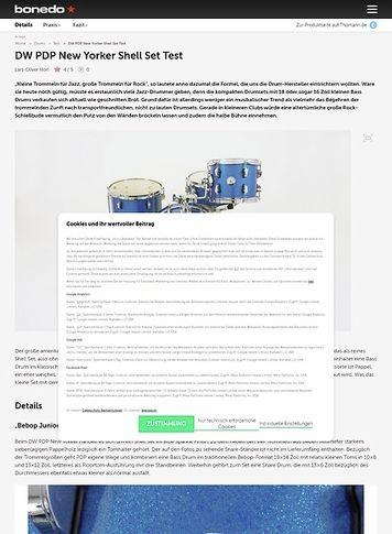 Bonedo.de DW PDP New Yorker Shell Set