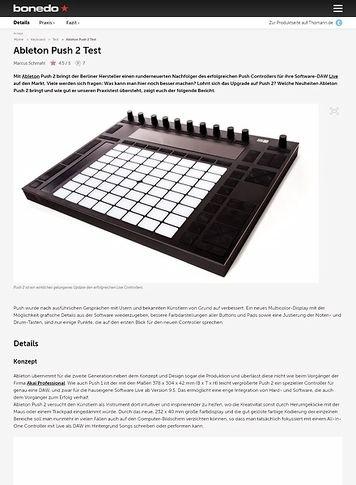 Bonedo.de Ableton Push 2