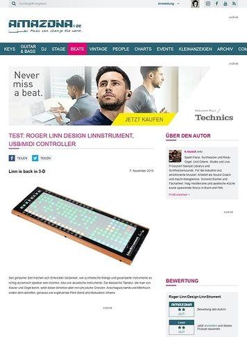 Amazona.de Test: Roger Linn Design LinnStrument, USB/MIDI Controller