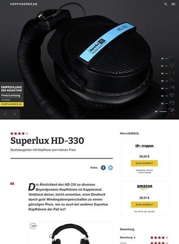 Kopfhoerer.de Superlux HD-330