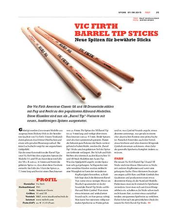 Sticks Vic Firth Barrel Tip Sticks