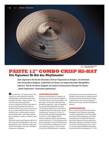 "Sticks Paiste 12"" Combo Crisp Hi-Hat"