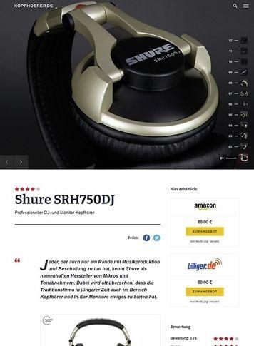 Kopfhoerer.de Shure SRH750 DJ