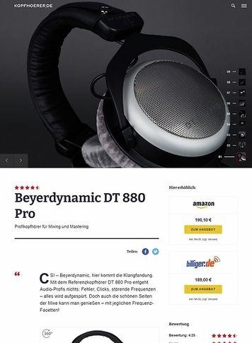 Kopfhoerer.de Beyerdynamic DT-880 Pro