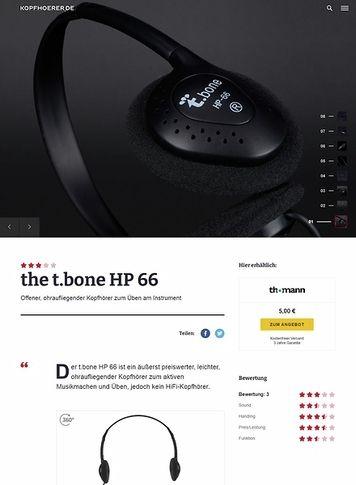 Kopfhoerer.de the t.bone HP 66