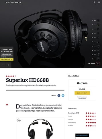 Kopfhoerer.de Superlux HD-668 B