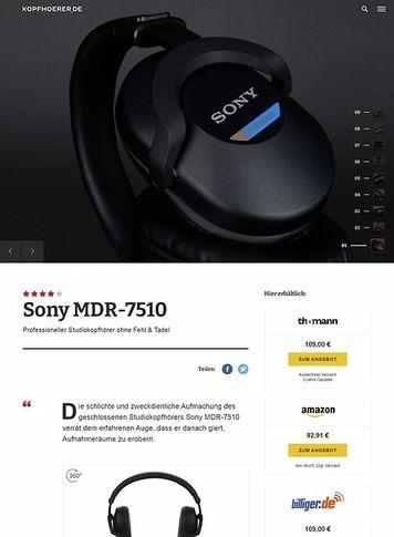 Kopfhoerer.de Sony MDR-7510