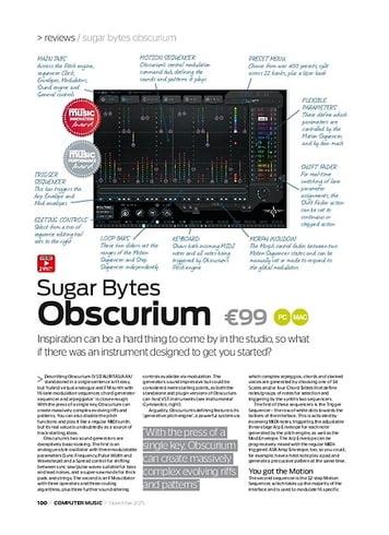 Computer Music Sugar Bytes Obscurium
