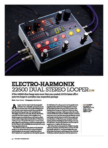 Guitarist Electro-Harmonix 22500 Dual Stereo Looper