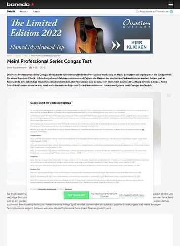 Bonedo.de Meinl Professional Series Congas