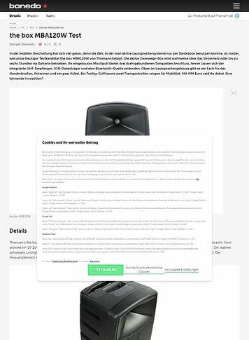 Bonedo.de the box MBA120W