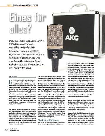 Professional Audio AKG C314