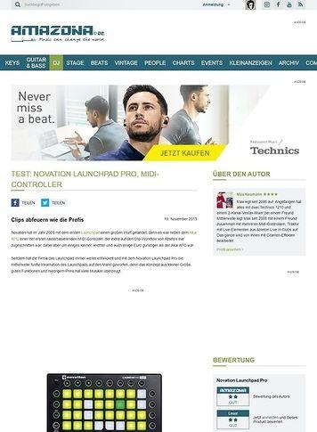 Amazona.de Test: Novation Launchpad Pro, MIDI-Controller