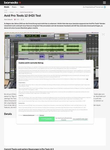Bonedo.de Avid Pro Tools 12 (HD)