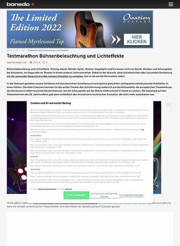 Bonedo.de Testmarathon Bühnenbeleuchtung und Lichteffekte
