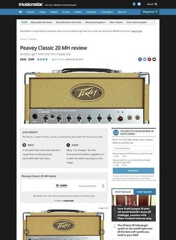 MusicRadar.com Peavey Classic 20 MH