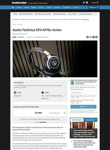MusicRadar.com Audio-Technica ATH-M70x