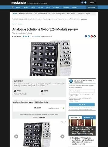 MusicRadar.com Analogue Solutions Nyborg 24 Module