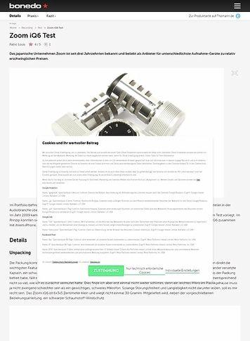 Bonedo.de Zoom iQ6