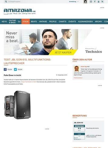 Amazona.de Test: JBL EON 615, Multifunktions-Lautsprecher
