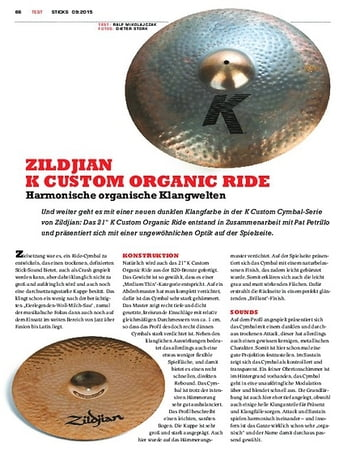 Sticks Zildjian K Custom Organic Ride