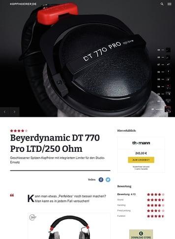 Kopfhoerer.de Beyerdynamic DT-770 Pro LTD/250